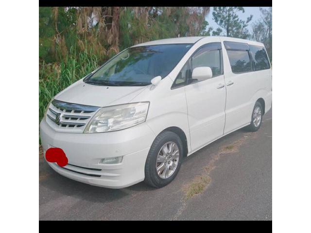 沖縄の中古車 トヨタ アルファードV 車両価格 39万円 リ済込 平成17年 13.3万km パールM