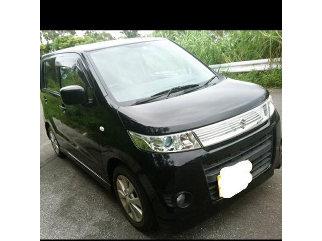 沖縄の中古車 スズキ ワゴンRスティングレー 車両価格 35万円 リ済込 2010(平成22)年 9.2万km ブラックM