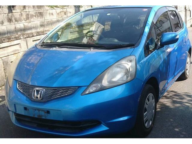 沖縄の中古車 ホンダ フィット 車両価格 25万円 リ済込 2009(平成21)年 10.4万km ライトブルーM