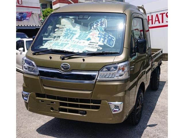 沖縄県の中古車ならハイゼットトラック  新品アルミ ホワイトレタータイヤ 1.1インチアップ