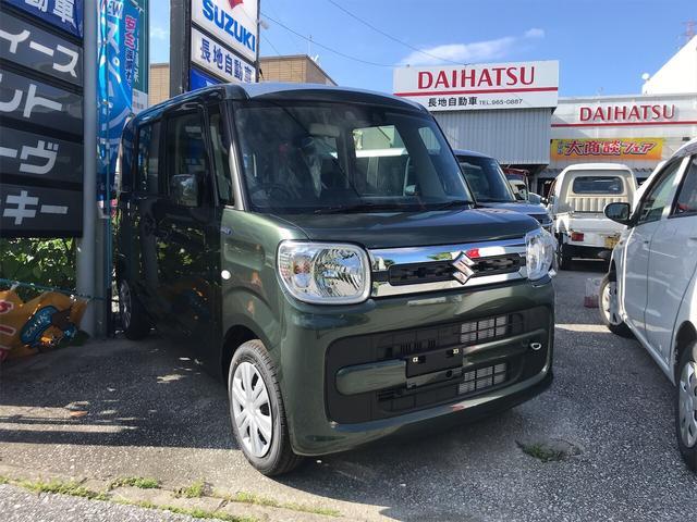 うるま市 長地自動車 スズキ スペーシア ハイブリッドX グリーン 3km 2020(令和2)年