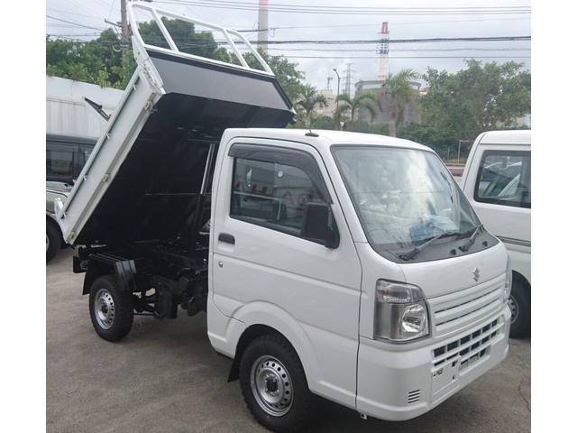 沖縄県うるま市の中古車ならキャリイトラック  4WD♪新明和製リフトアップダンプ♪