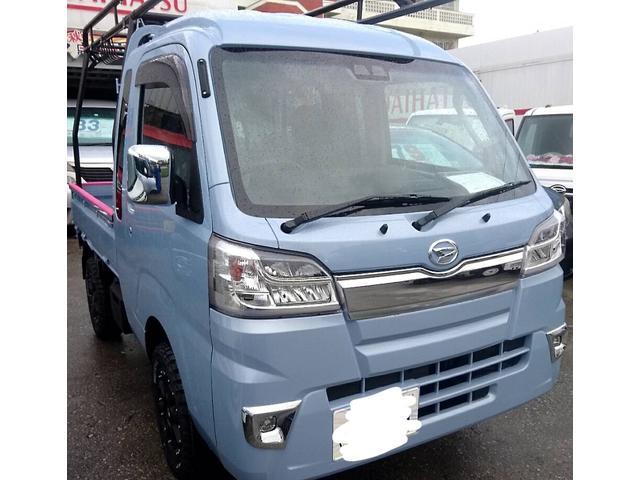 沖縄県の中古車ならハイゼットトラック ジャンボSAIIIt アゲトラ♪ハードコア♪新品ゴツゴツタイヤ アルミ♪多色オーダー可能です♪