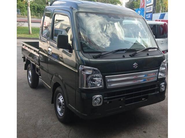 沖縄の中古車 スズキ キャリイトラック 車両価格 120万円 リ済込 2021(令和3)年 6km Dグリーン