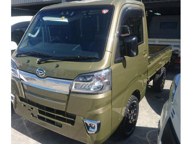 沖縄県の中古車ならハイゼットトラック エクストラSAIIIt 4WD SA3T アゲトラ♪