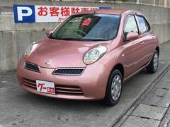 沖縄の中古車 日産 マーチ 車両価格 28万円 リ済込 平成20年 8.4万K ライトピンクM