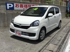 沖縄の中古車 ダイハツ ミライース 車両価格 49万円 リ済込 平成26年 7.0万K ホワイト