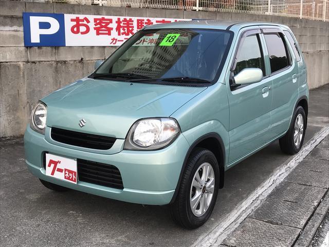 沖縄の中古車 スズキ Kei 車両価格 19万円 リ済込 平成18年 8.5万km LグリーンM