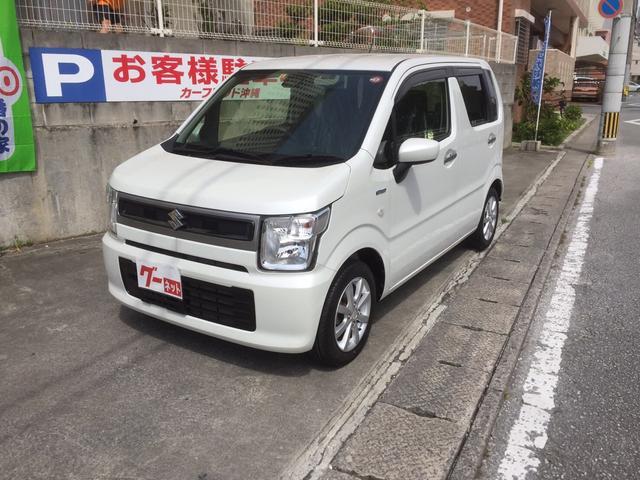 沖縄県の中古車ならワゴンR ハイブリッドFX スマートキー CD 緊急ブレーキ