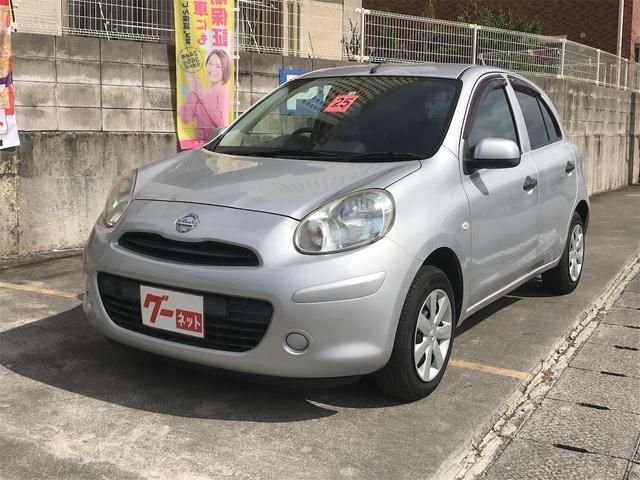 沖縄の中古車 日産 マーチ 車両価格 38万円 リ済込 2013(平成25)年 2.5万km シルバー