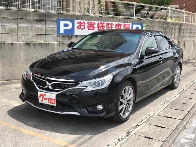 沖縄の中古車 トヨタ マークX 車両価格 119万円 リ済込 2013(平成25)年 8.6万km ブラック
