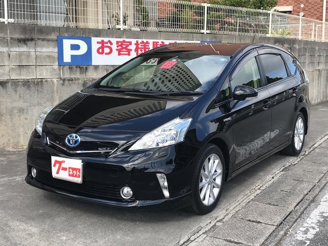 沖縄の中古車 トヨタ プリウスアルファ 車両価格 135万円 リ済込 2013(平成25)年 5.5万km ブラック
