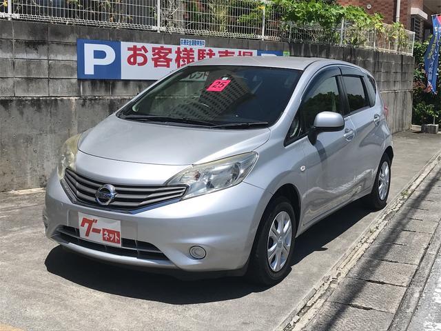 沖縄の中古車 日産 ノート 車両価格 45万円 リ済込 2013(平成25)年 5.1万km シルバー