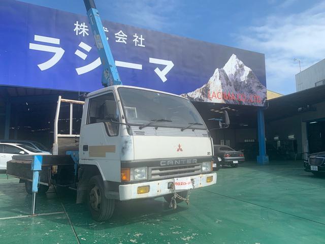 沖縄県の中古車ならキャンター クレーン車 4段ブーム ラジコン付