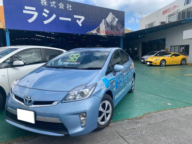 沖縄の中古車 トヨタ プリウスPHV 車両価格 98万円 リ済込 2012(平成24)年 10.5万km ブルー