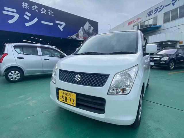 沖縄の中古車 スズキ ワゴンR 車両価格 23.5万円 リ済込 2012(平成24)年 12.4万km パールホワイト