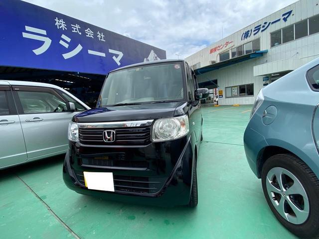 沖縄の中古車 ホンダ N-BOX 車両価格 49万円 リ済込 2014(平成26)年 14.8万km スマートブラック
