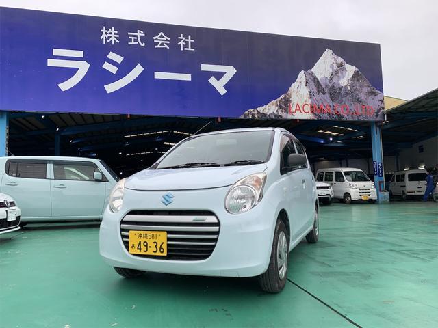 沖縄の中古車 スズキ アルトエコ 車両価格 24.8万円 リ済込 2013(平成25)年 11.9万km ホワイト