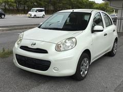 沖縄の中古車 日産 マーチ 車両価格 58万円 リ済別 平成25年 3.5万K ホワイト