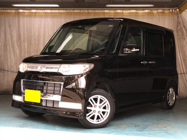 沖縄県の中古車ならタント カスタムXリミテッド ワンオーナー ユーザー買取車 電動スライド スマートキー オーディオプレイヤー(CD/USB/Bluetooth) HIDヘッド フォグライト 電動格納ミラー アストラルブラッククリスタルマイカ