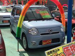 沖縄の中古車 ダイハツ ミラココア 車両価格 73万円 リ済込 平成25年 3.4万K ライトブルー