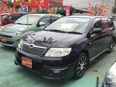 沖縄の中古車 トヨタ カローラフィールダー 車両価格 39万円 リ済別 平成18年 9.6万K ブラック