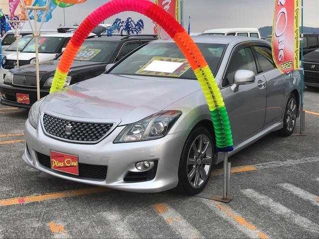 沖縄の中古車 トヨタ クラウン 車両価格 108万円 リ済別 2009(平成21)年 8.7万km シルバー