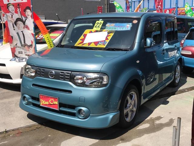 沖縄の中古車 日産 キューブ 車両価格 59万円 リ済別 2010(平成22)年 8.6万km LグリーンM