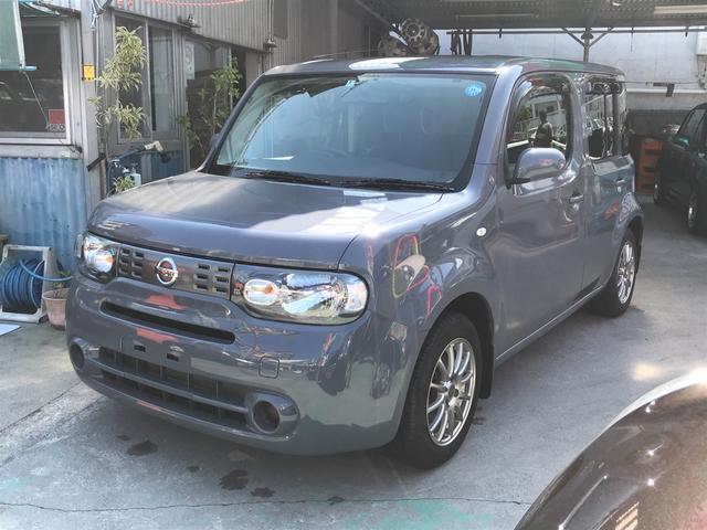 沖縄の中古車 日産 キューブ 車両価格 65万円 リ済別 2012(平成24)年 7.8万km ライトグレー