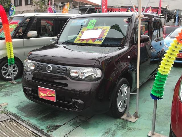 沖縄の中古車 日産 キューブ 車両価格 59万円 リ済別 2012(平成24)年 8.7万km ブラウン