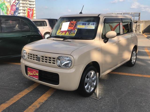 沖縄の中古車 スズキ アルトラパン 車両価格 59万円 リ済別 2014(平成26)年 7.3万km ベージュ