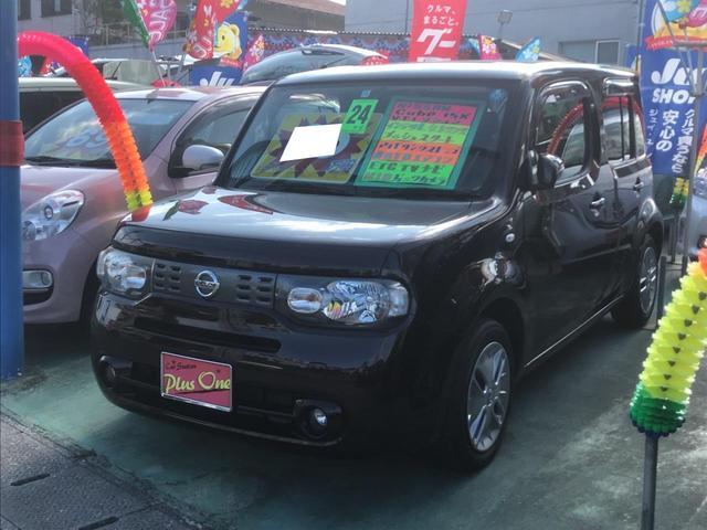 沖縄の中古車 日産 キューブ 車両価格 65万円 リ済別 2012(平成24)年 7.4万km Dブラウン