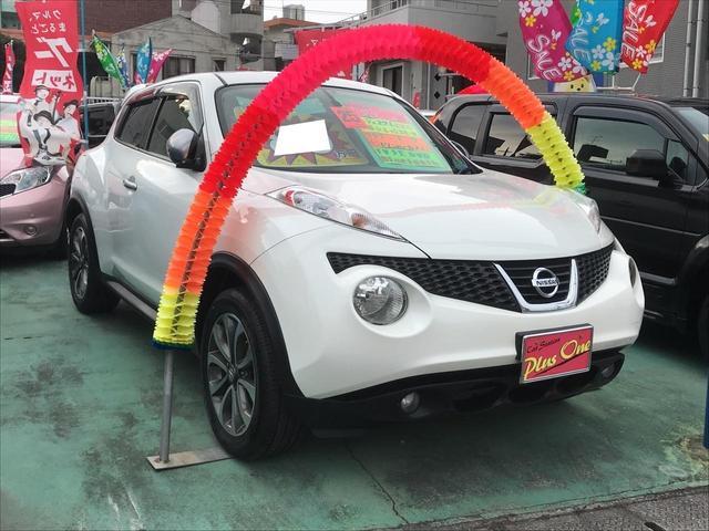沖縄の中古車 日産 ジューク 車両価格 89万円 リ済別 2013(平成25)年 8.0万km パールホワイト