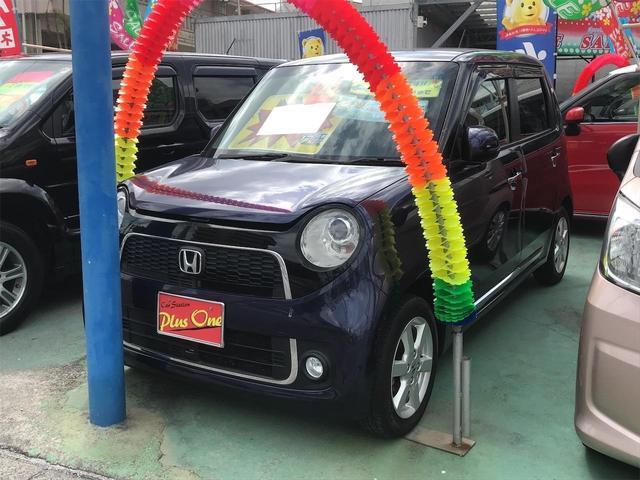 沖縄の中古車 ホンダ N-ONE 車両価格 75万円 リ済別 2013(平成25)年 8.6万km ダークブルーM
