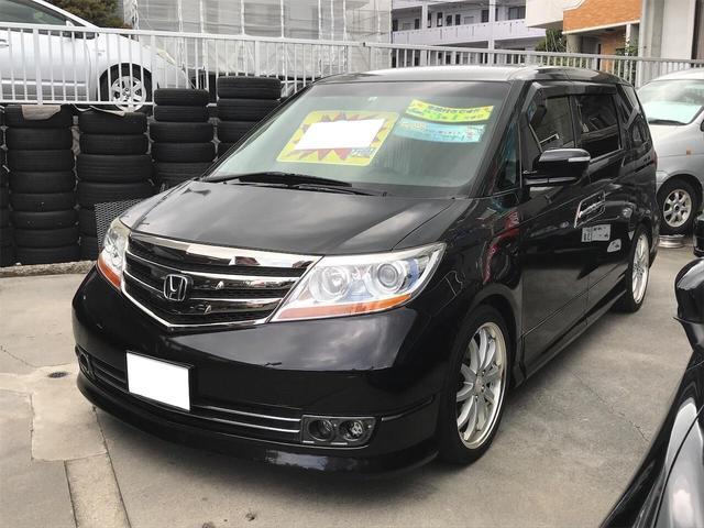 沖縄の中古車 ホンダ エリシオンプレステージ 車両価格 85万円 リ済別 2010(平成22)年 9.8万km ブラック