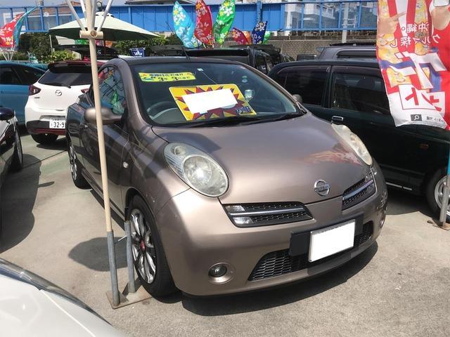 沖縄の中古車 日産 マイクラC+C 車両価格 72万円 リ済別 2007(平成19)年 8.0万km ライトゴールドM