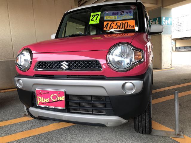 沖縄の中古車 スズキ ハスラー 車両価格 89万円 リ済別 2015(平成27)年 4.6万km ピンクII