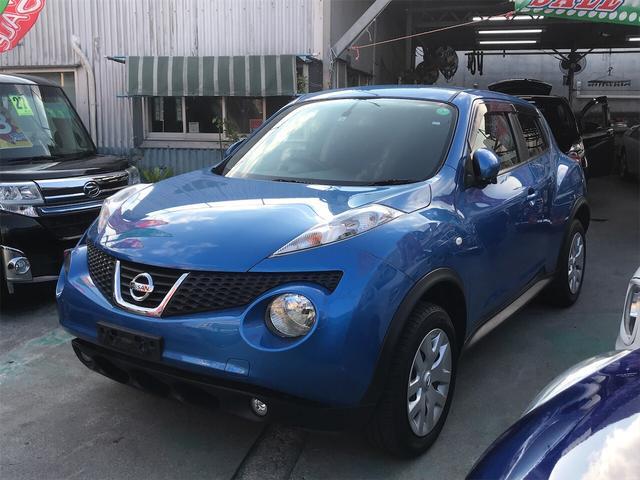 沖縄の中古車 日産 ジューク 車両価格 69万円 リ済別 2012(平成24)年 8.5万km ブルー