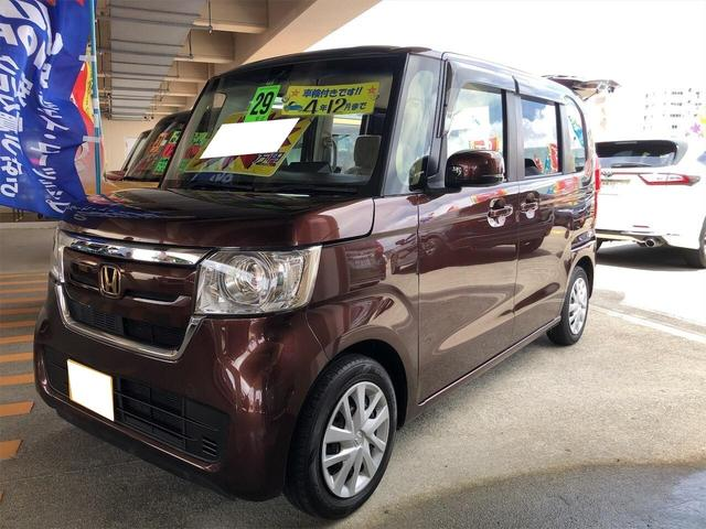 沖縄県の中古車ならN-BOX G・L スマートキー ベンチシート 左側パワースライドドア 盗難防止装置 ETC