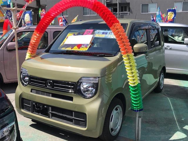 沖縄の中古車 ホンダ N-WGN 車両価格 102万円 リ済別 2020(令和2)年 0.9万km ガーデングリーン
