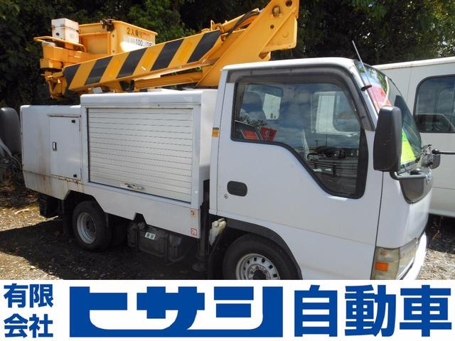 名護市 ヒサシ自動車 いすゞ エルフトラック 高所作業車 現状車 ホワイト 14.6万km 2003(平成15)年