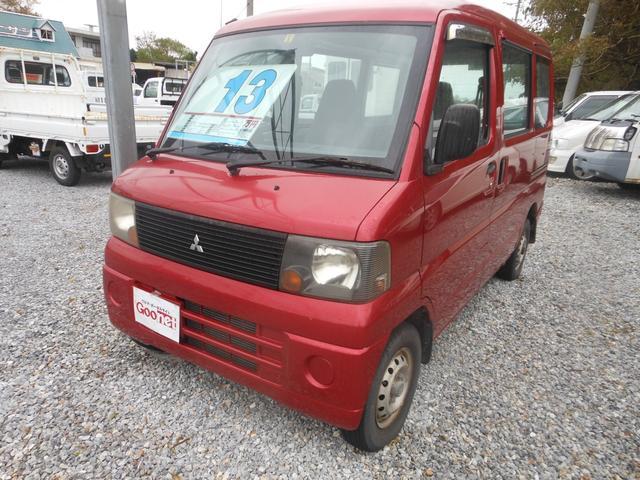 沖縄の中古車 三菱 ミニキャブバン 車両価格 13万円 リ済込 平成15年 11.1万km レッド