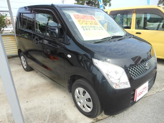 沖縄の中古車 スズキ ワゴンR 車両価格 42万円 リ済込 平成23年 7.4万km ブラック
