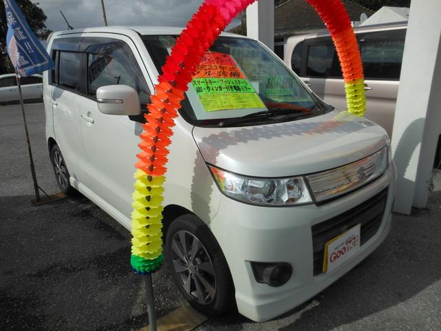 沖縄県の中古車ならワゴンRスティングレー T スマートキー・プッシュスタート