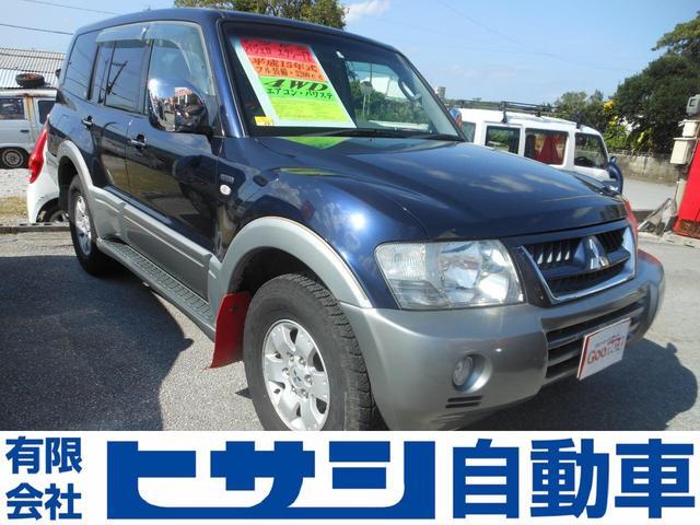 沖縄の中古車 三菱 パジェロ 車両価格 103万円 リ済込 2003(平成15)年 16.9万km 紺II