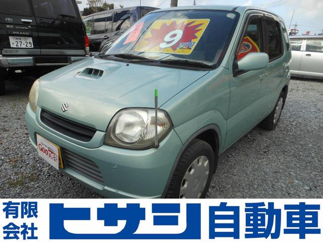 沖縄の中古車 スズキ Kei 車両価格 8万円 リ済込 2004(平成16)年 7.3万km Lグリーン