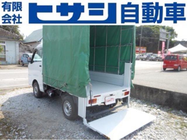 沖縄県の中古車ならハイゼットトラック 垂直テールリフト 4WDオートマ 幌付 オールペン済