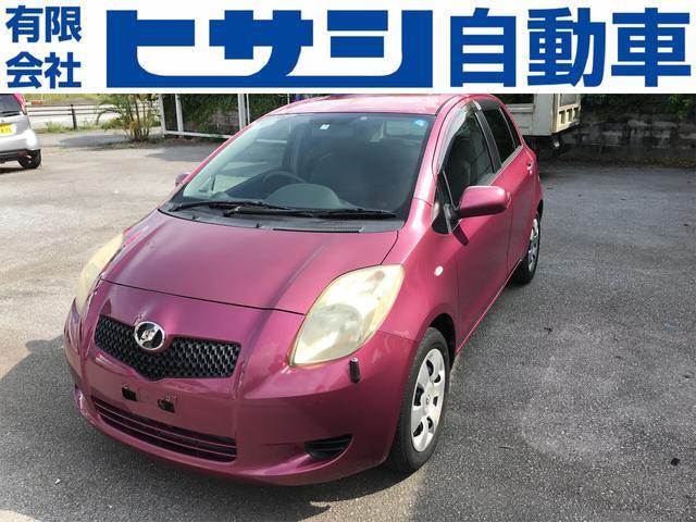 沖縄の中古車 トヨタ ヴィッツ 車両価格 5万円 リ済込 2005(平成17)年 17.6万km ピンク