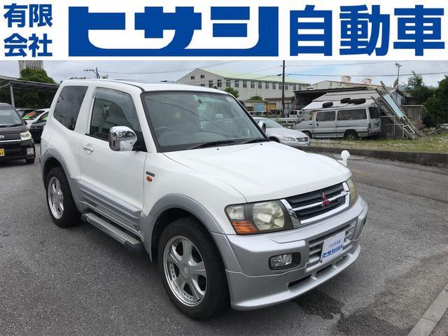 沖縄県の中古車ならパジェロ ショート スーパーエクシード ガソリン車 サンルーフ ドライバー席パワーシート 4WD