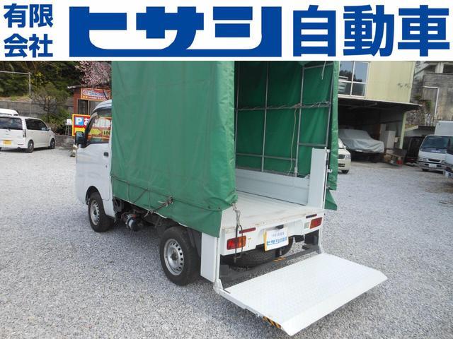 沖縄県の中古車ならハイゼットトラック 垂直テールリフト 2WD オートマ 幌付 オールペン済